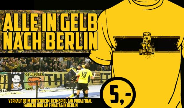 forum pokalfinale alle in gelb nach berlin. Black Bedroom Furniture Sets. Home Design Ideas